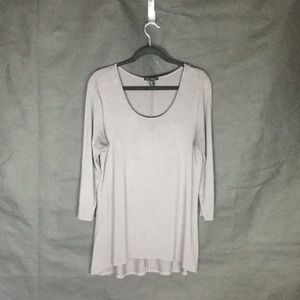 Willi Smith Super Soft Grey Long Sleeve Tunic